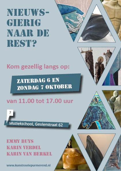 Uitnodiging Kunstroute 2018